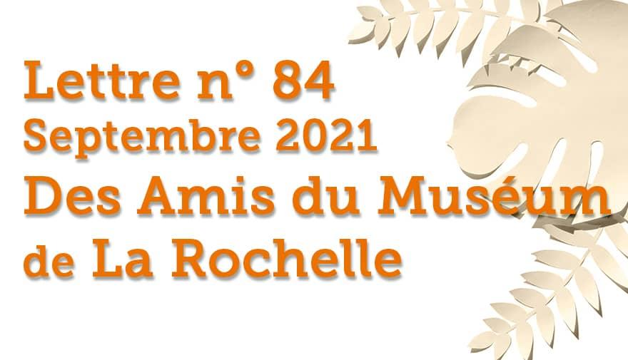 Lettre n° 84 Septembre 2021 Des Amis du Muséum de La Rochelle